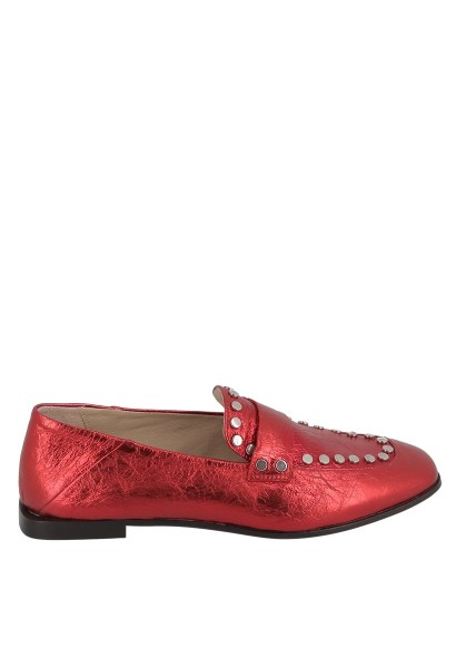 Mocassins à clous Rouge