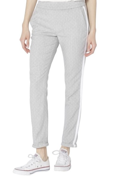 Pantalon à points et bandes coté ELVIN FANCY Gris