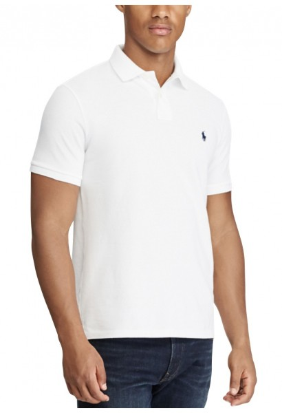 Polo manches courtes slim fit Blanc