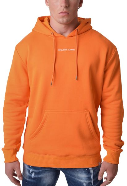 Sweat à capuche basic print reflechissant Orange