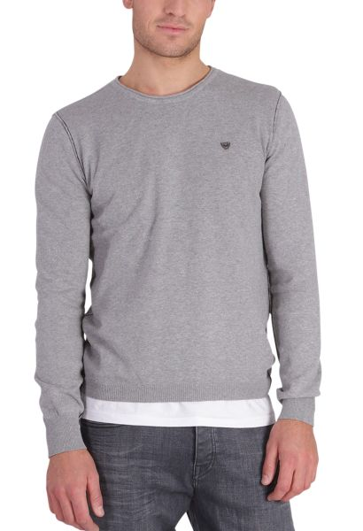 Pull col rond GREAT Gris