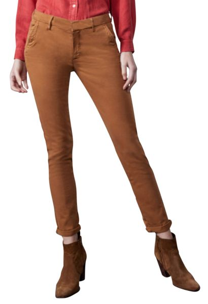 Pantalon chino uni SANDY 2 BASIC Marron
