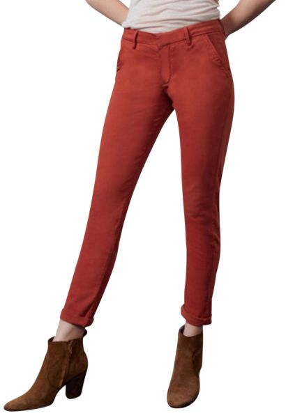 Pantalon chino uni SANDY 2 BASIC Rouge