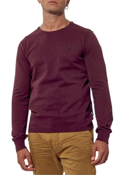 Pull col rond GREAT Bordeaux