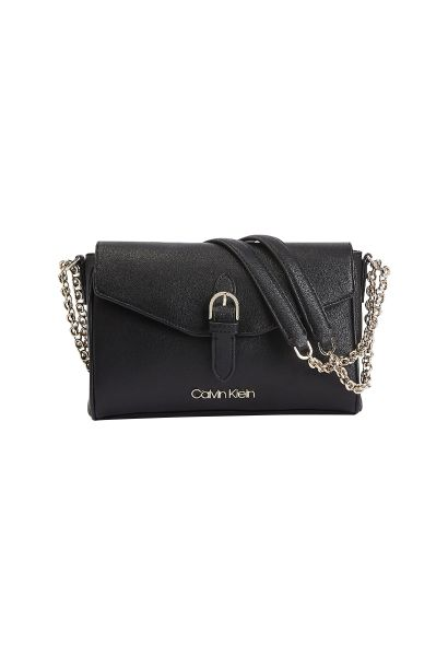 Sac chainette FLAP CROSSBODY Noir