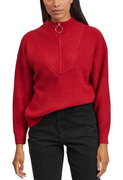 Pull col camioneur PALERMO Rouge