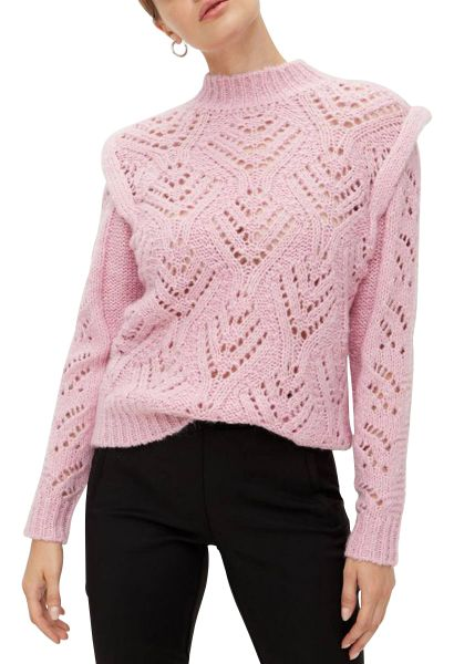 Pull maille ajourée SASSY Lilas