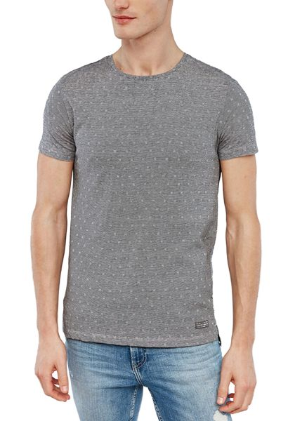 Tee shirt manches courtes col rond SIDNEY Anthracite