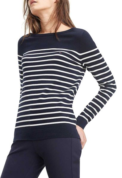 Pull rayures mariniere col rond