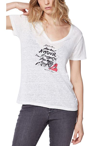 Tee shirt manches courtes Amour Blanc