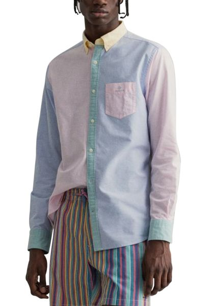 Chemise manches longues regular Rose clair