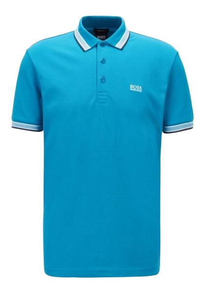 Polo manches courtes regular stretch PADDY Bleu turquoise
